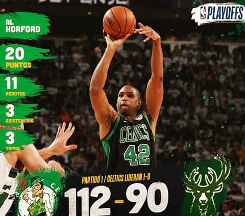 Puertoplateño Al Horford guía a los Celtics de Boston sobre los Bucks de Milwaukee en segunda ronda playoffs de la NBA